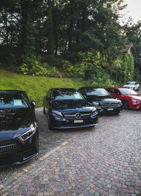Prova Modelli Mercedes-Benz ed esposizione Tourbillon/Glashütte presso Hotel Villa Principe Leopoldo, Lugano